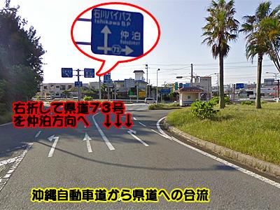 石川バイパス標識