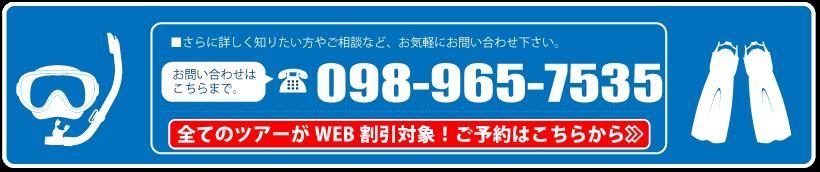 沖縄ダイビング・全てのツアーがWEB割引対象!予約はこちらから