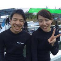 体験ダイビングにご参加の2名様。