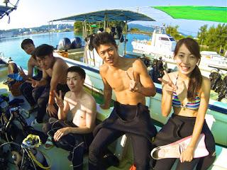 友達同士で体験ダイビング