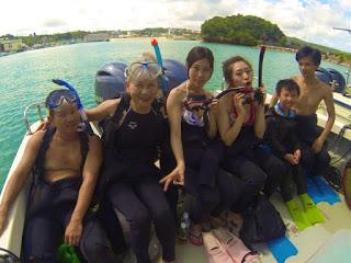 シュノーケリングと体験ダイビングに参加