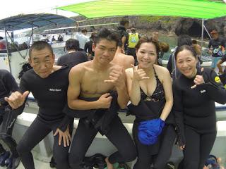 仲良し家族で体験ダイビング